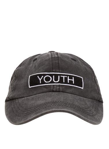 DeFacto Baskılı Şapka Gri